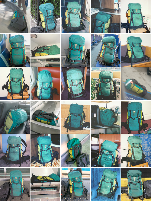 My trusty backpack, along for the ride since 1992, has recently been replaced with a roller bag. ©2015 Troy Litten