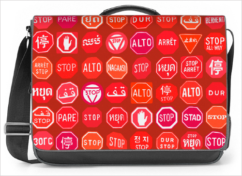 Stop sign messenger bag concept. ©2015 Troy Litten