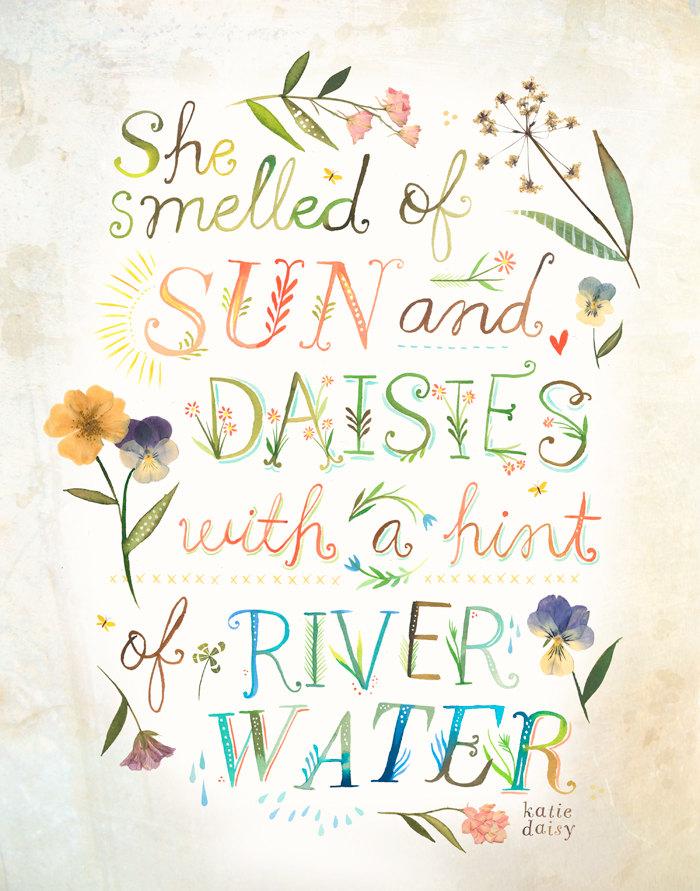 """Sun and Daisies"" © Katie Daisy"