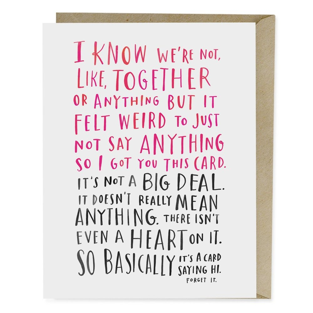 """Awkward Dating Card"" © Emily McDowell"