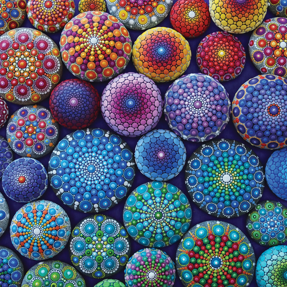"""Rainbow Mandala Stones"" ©  Elspeth McLean"