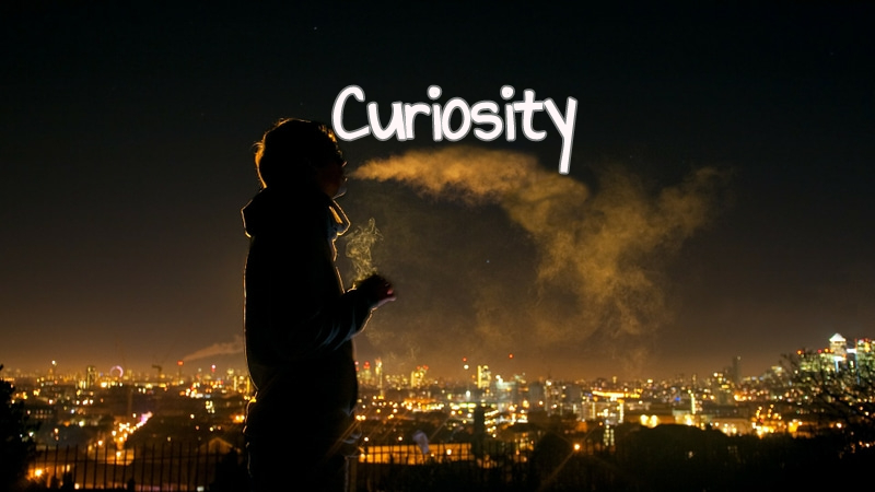 Curiosity - A woman living in the suburbs steals her abusive husband's fancy car, drives to LA's Skid Row, and accidentally strikes a homeless man.Cast of 2.