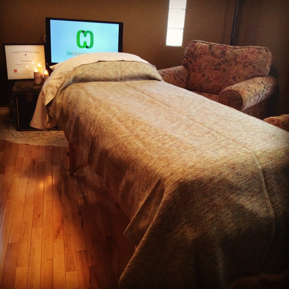 The comfy healing space at Co-Creative Healing