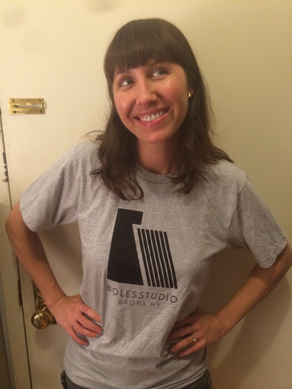 The lovely Danielle McCarthy modeling the new T-Shirts.