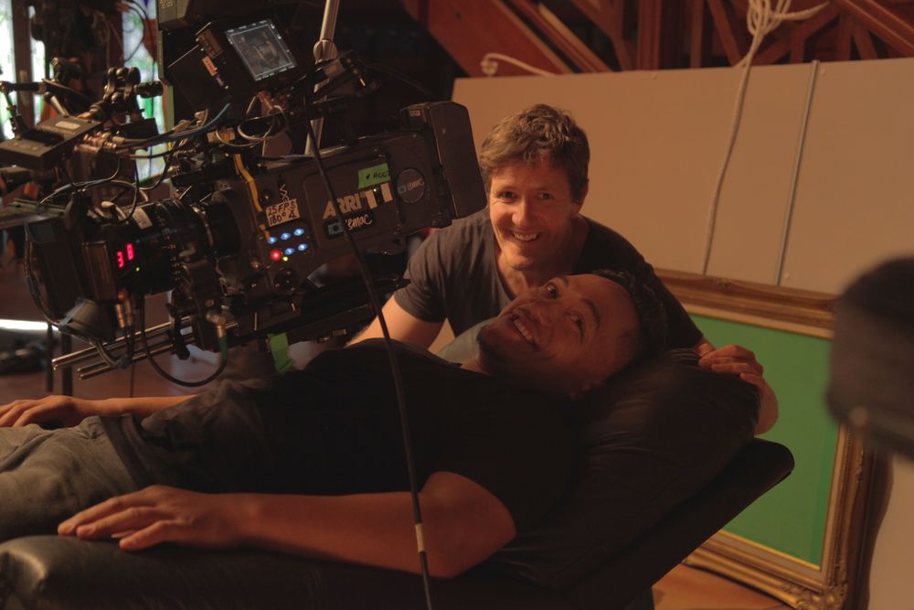 Director Frazer Bailey adjusting positions with Taungaroa Emile