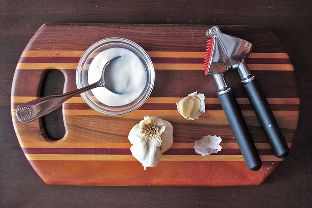 Yogurt and garlic are the foundation of one of the sauces.