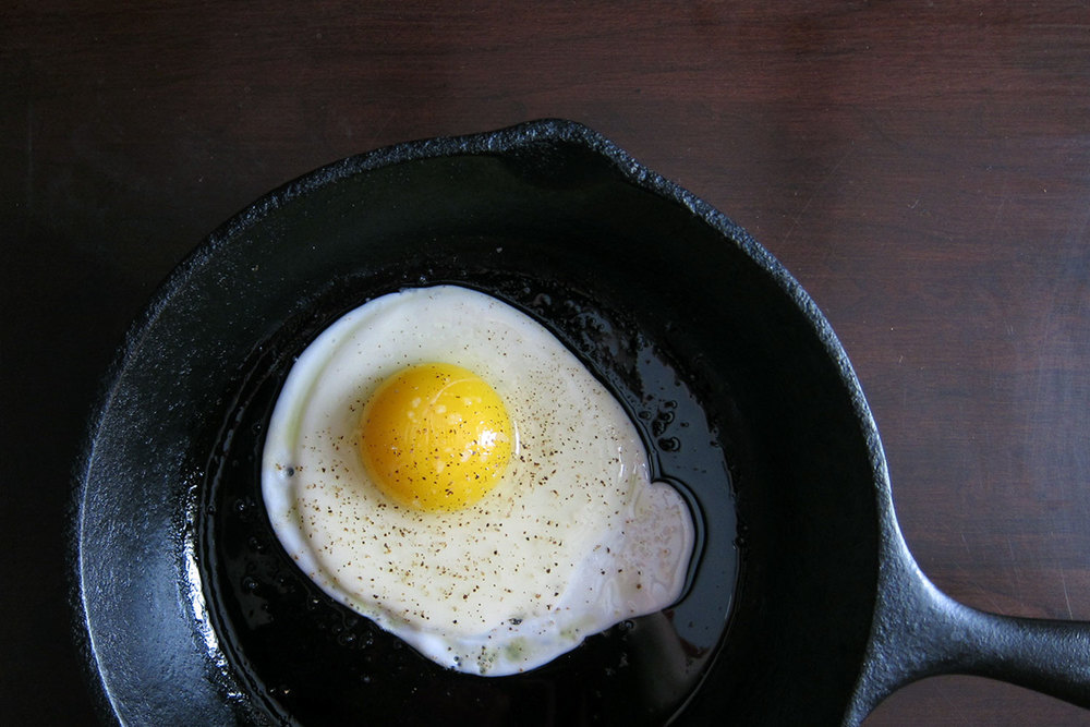 Fry yourself an egg however you see fit.