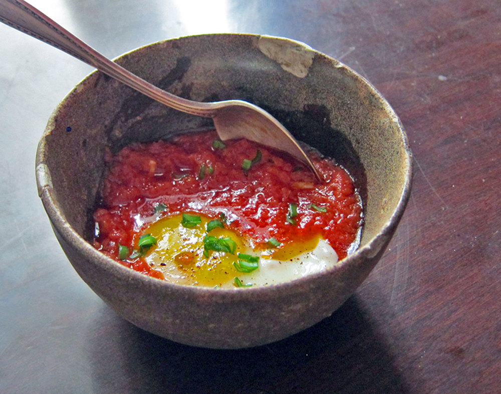 Leftover tomato sauce goes a long way toward an effortless breakfast, lunch or dinner.