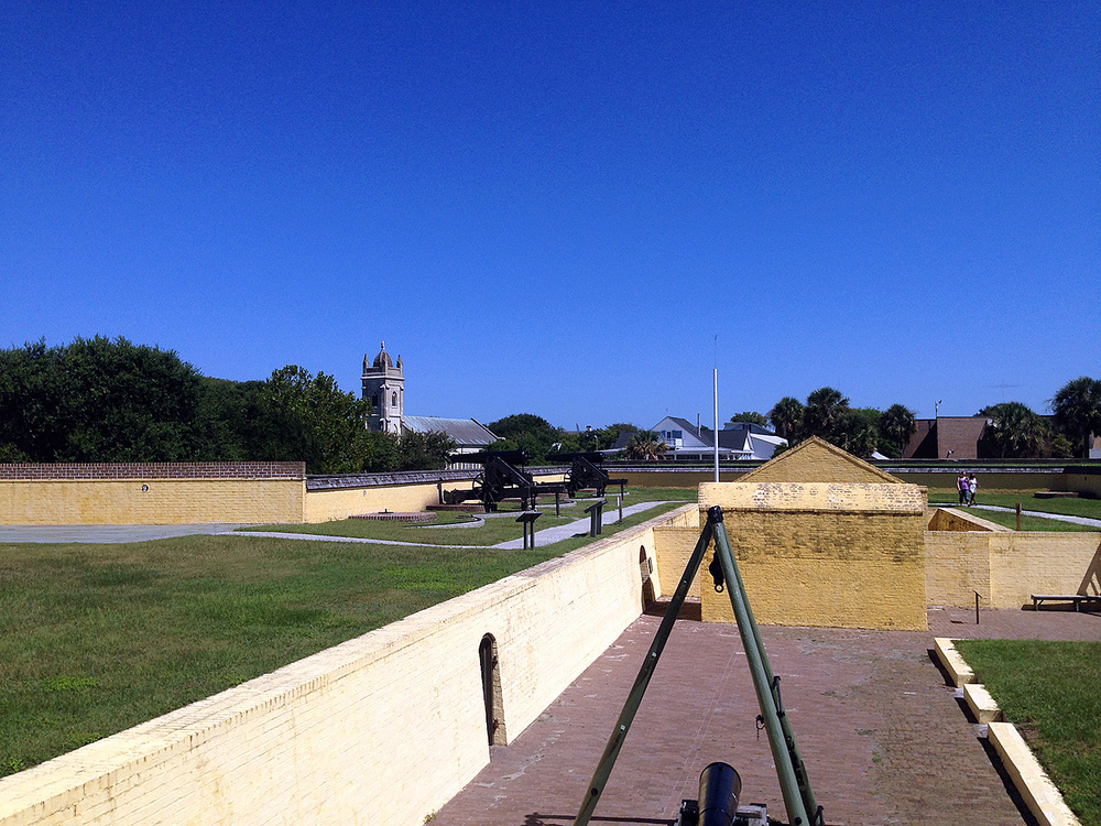 The upper levels of Fort Moultrie on Sullivan's Island.