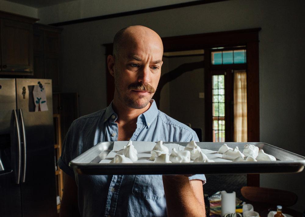 Staring at them meringues. 📷:  Denny Culbert