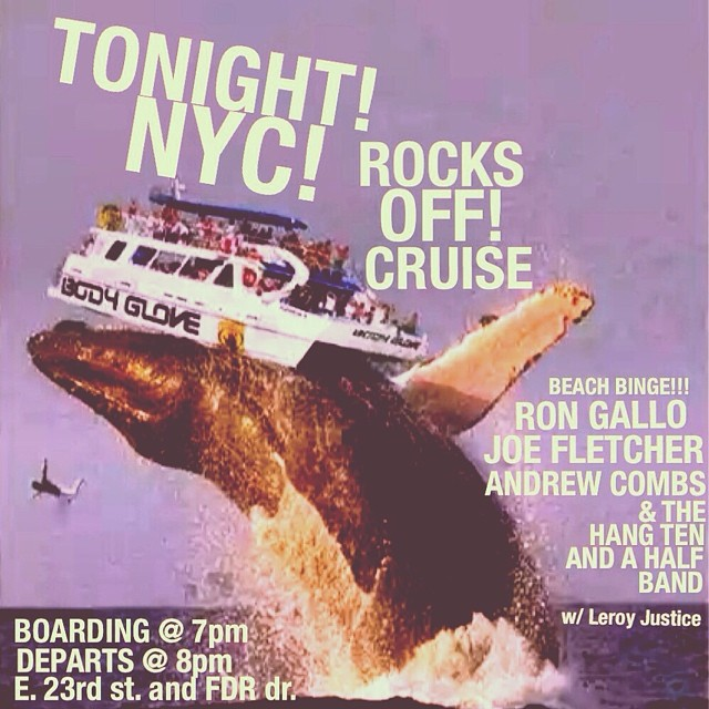 beach binge tour feat. @rongallo @josephfletcher @andrew_combs wraps up on a boat in NYC this evening. GO! @rocksoffny