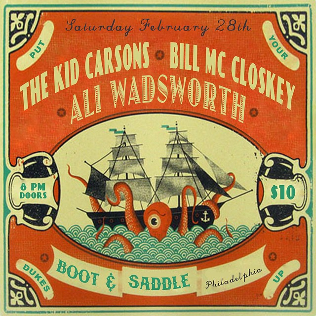 Bill McCloskey plays boot and saddle on February 28th with a good crew.  Woop!