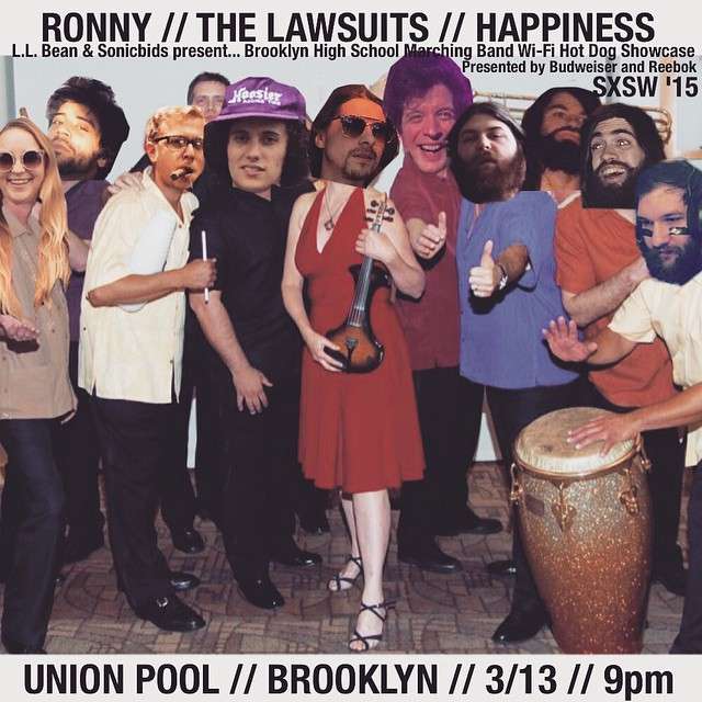 the @happiness_band @rongallo @thelawsuits tour has been great. it ends tomorrow night, friday the 13th in brooklyn at Union Pool. dont miss it