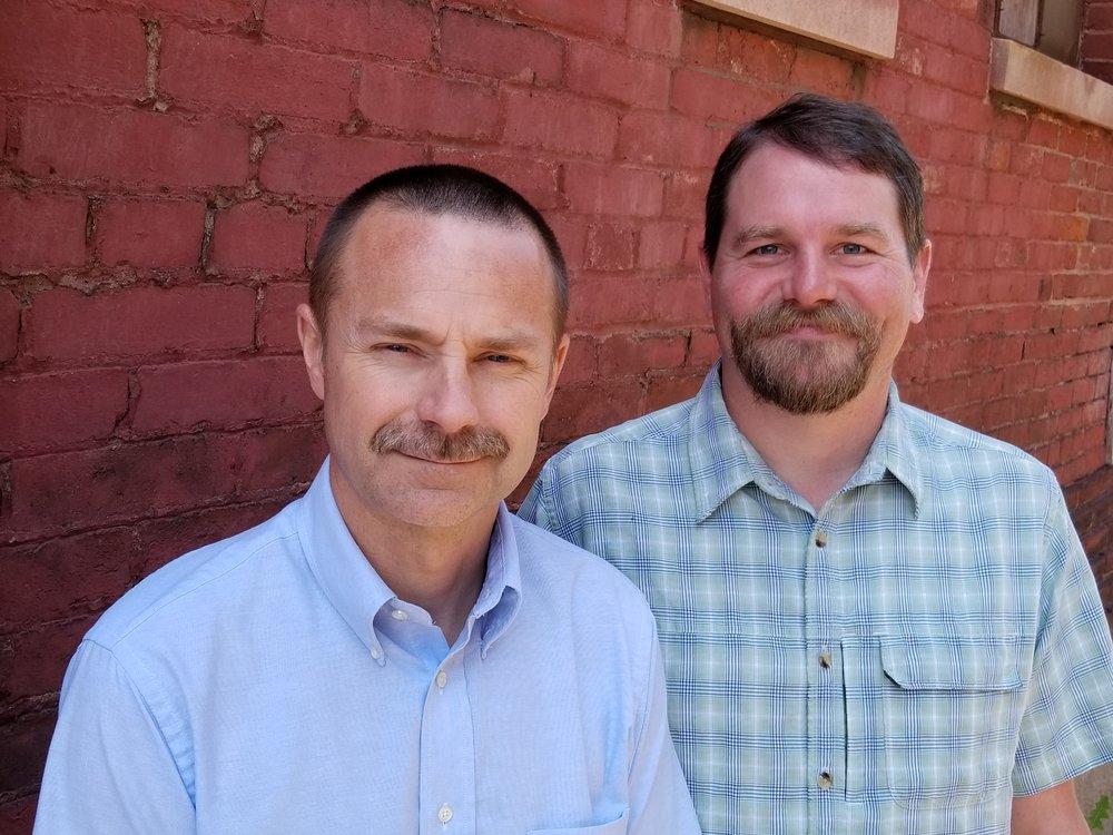 Allen Bancroft (left) and Andrew Davison join the RE2 Robotics leadership team.