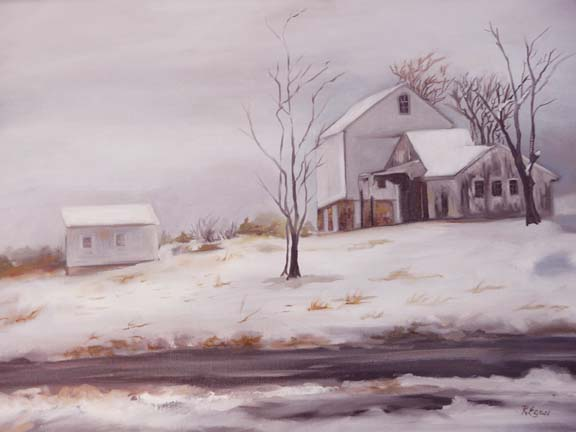 """First Snow at Patterson Farm"""