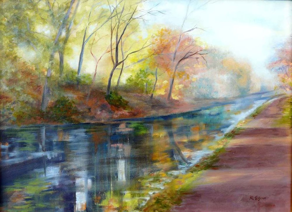 Autumn on Black Rock Canal sold