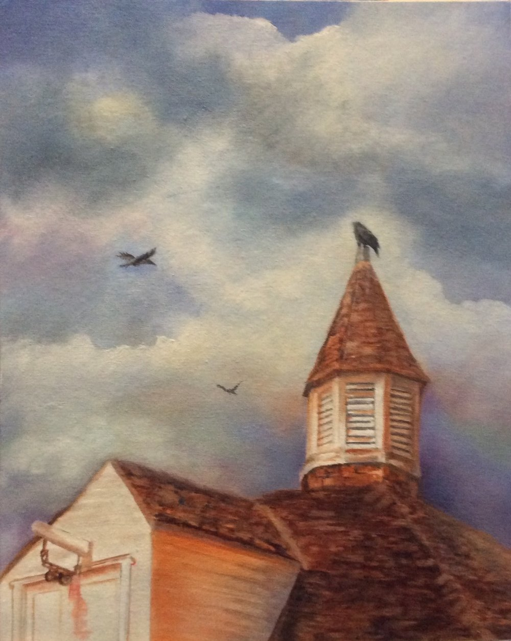 """Bird Tower"" oil ""18X24"""