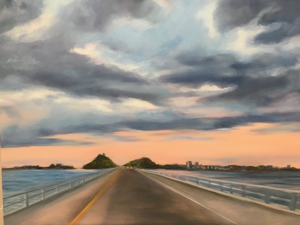 """The road to Sanibel"" 24X30 oil"