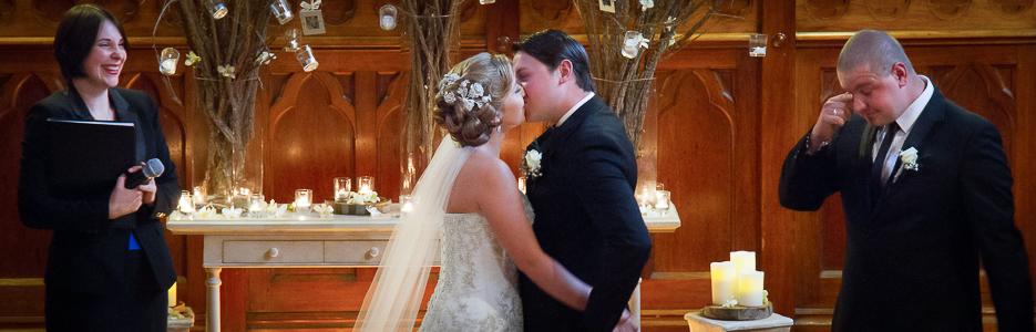First Kiss - Wedding, Melbourne, Australia.