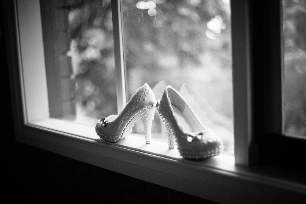 The Brides shoes.