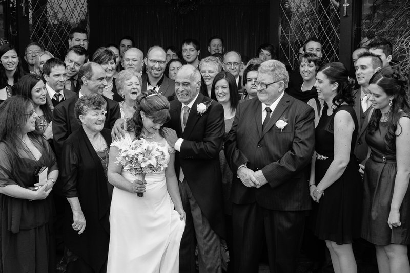 Do you take some formal family, group and bridal party portraits?  YES of course. Although technically speaking these are not 'Wedding Photojournalism' I understand some are required & therefore happy to allocate time during the day.