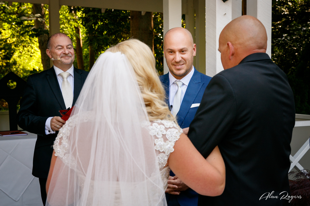 Father Handing Over the Bride - Marybrooke Manor, Sherbrooke, Dandenongs, Australia.