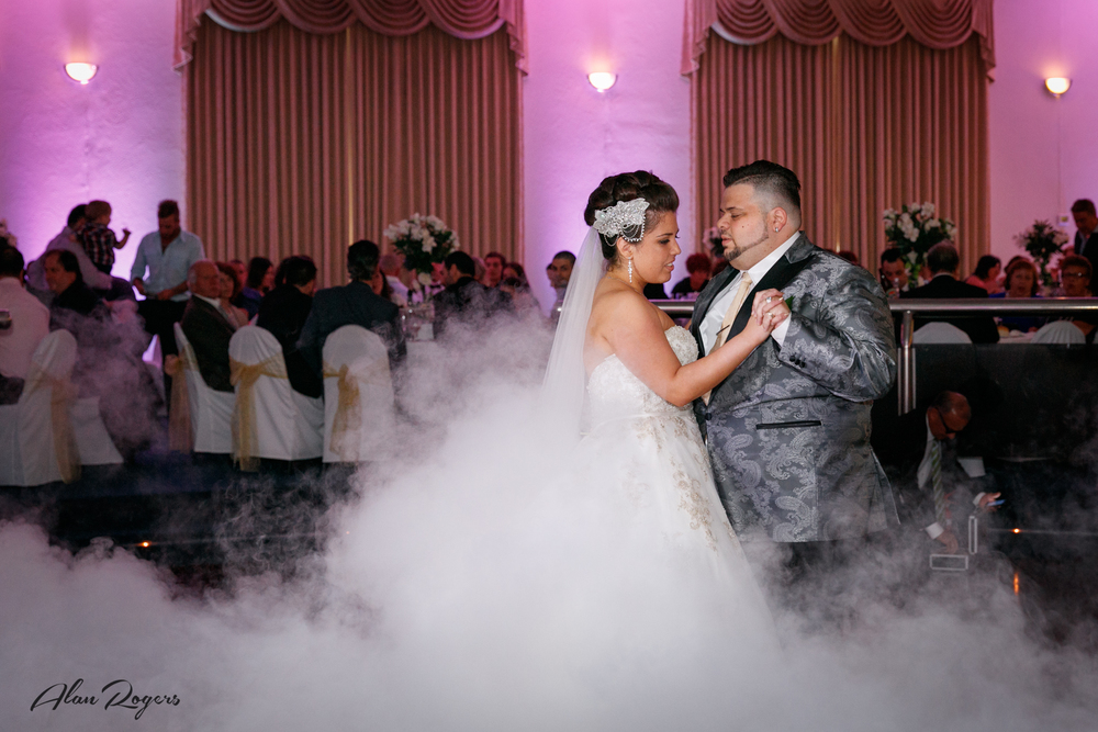 A beautiful and misty First Dance.