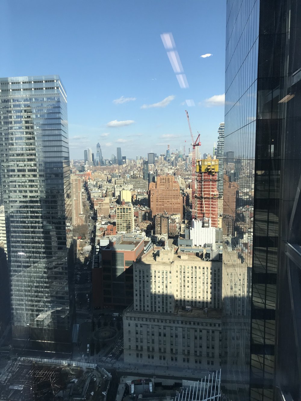 The view from 4 World Trade - the home of Spotify, where 300 people gathered for conversations about restorative justice