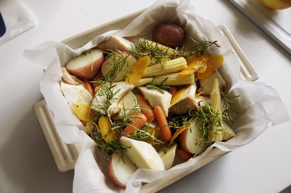 4. 以攝氏180度烤約50分鐘或是材料熟透上色即可。
