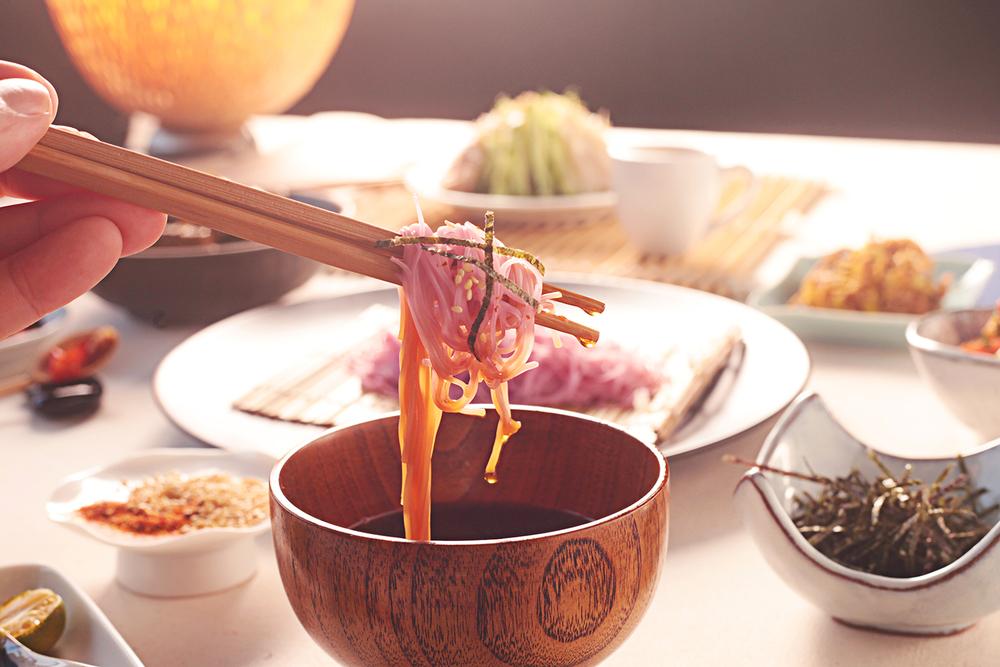 日式和風梅干麵 川味酸辣涼麵 椒麻如意菜 蘿蔔乾豆豉辣椒 拍黃瓜 涼拌芒果