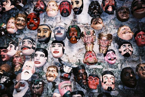 馬雅人製作的面具,因為打不過西班牙人所以做面具來嘲笑他們