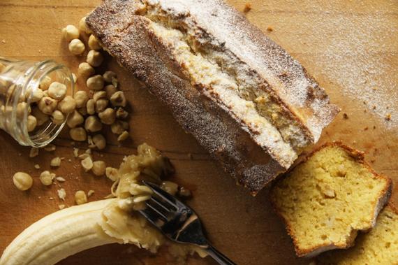 5.榛果香蕉磅蛋糕