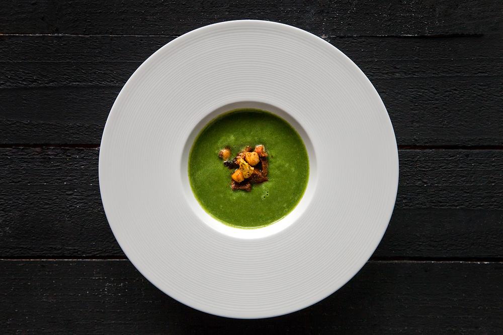 鷹嘴豆蔬菜香料湯