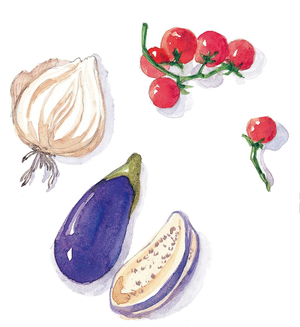 魚香茄子 普羅旺斯鑲番茄 家庭式和風奶油燉白菜 西班牙式奶油燴淡菜 法式普羅旺斯燉菜