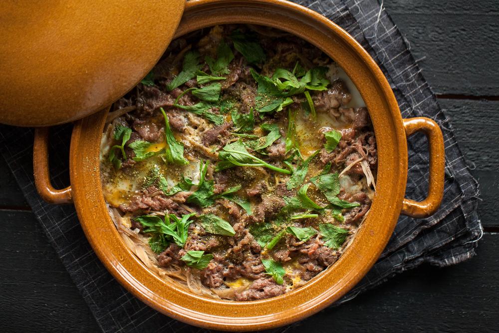 牛肉柳川煮