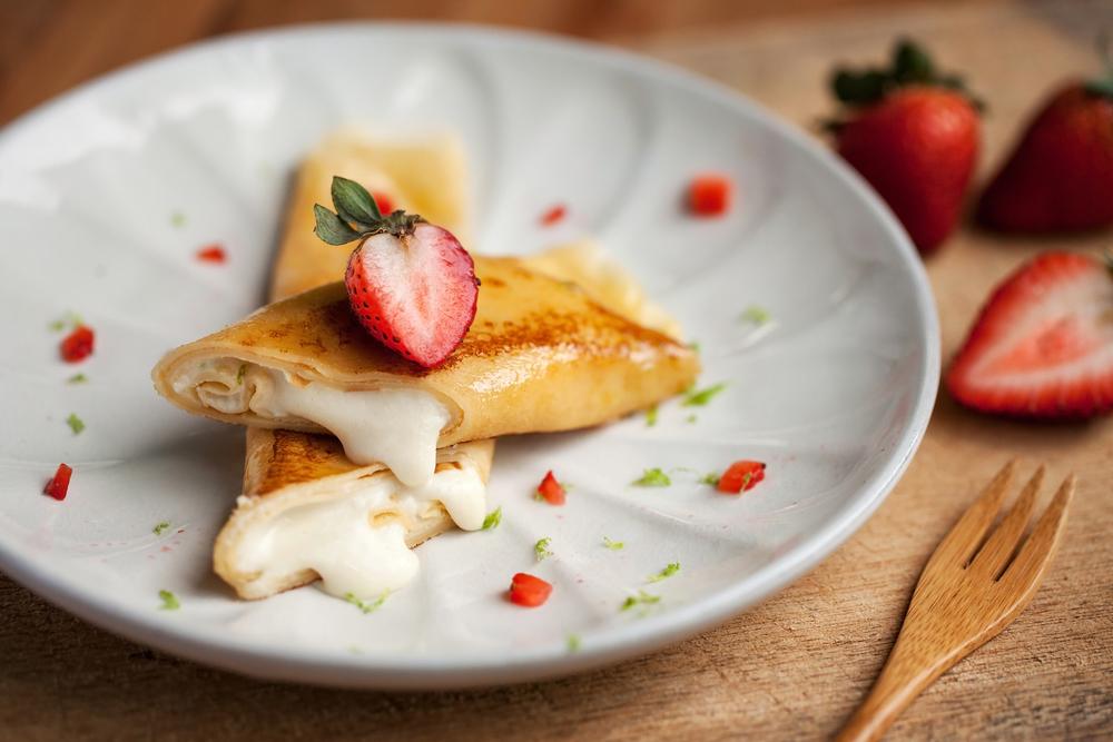 草莓起司可麗餅 Lemon Strawberry Mascarpone French Toast Crepe