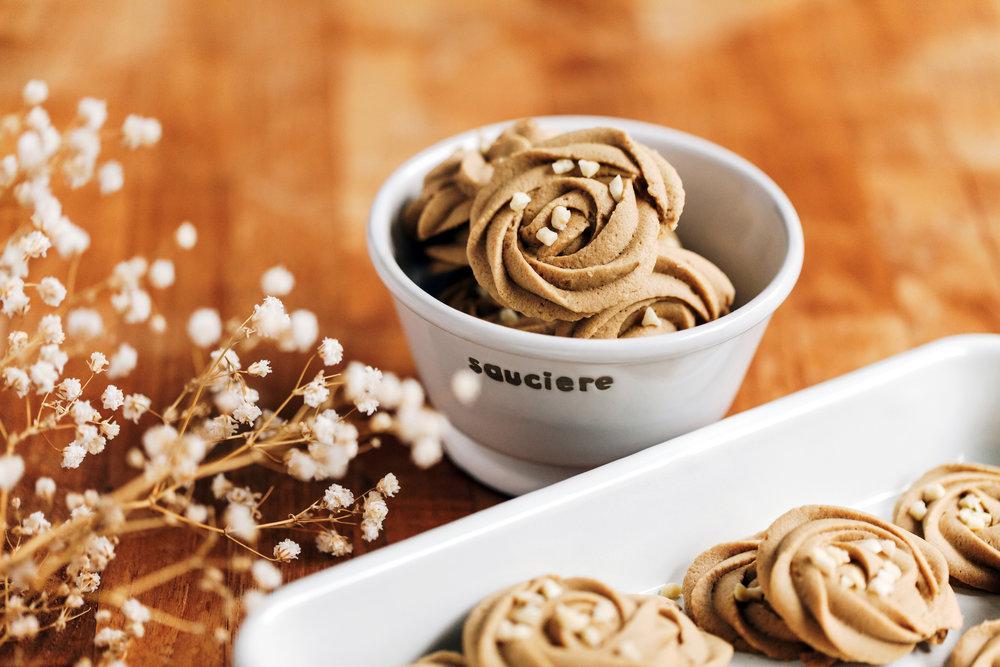 咖啡擠花奶油酥餅