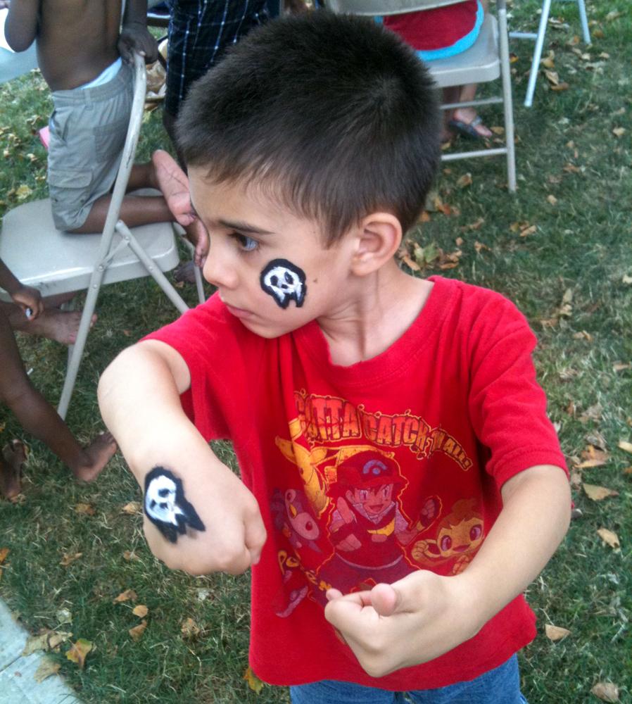 Joaquin and his deep love of skulls.