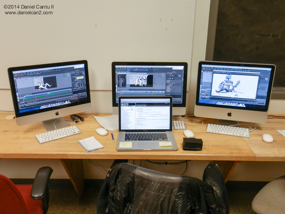 The middle iMac is the fasted, and my laptop barely handles rendering.