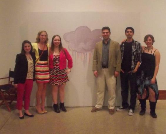 From left: Elizabeth, Lauren, Kayleigh, Boris, me, and Jen.