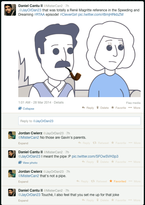 I was able to tweet to this animator and he schooled me with his cleverness.
