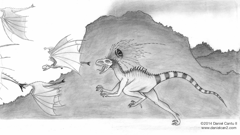 Circa 2009. This is an early concept of my bipedal monster, which I'm attempting to make look less like a dinosaur now.