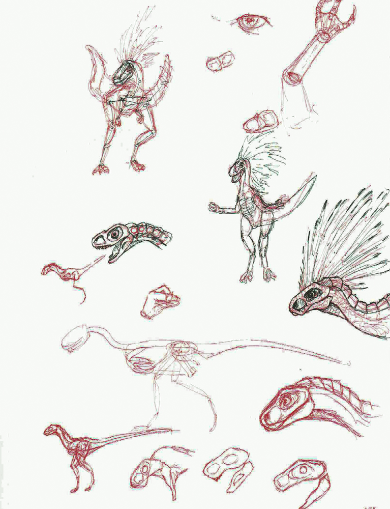 2014 Doodles: Preliminary monster concept.