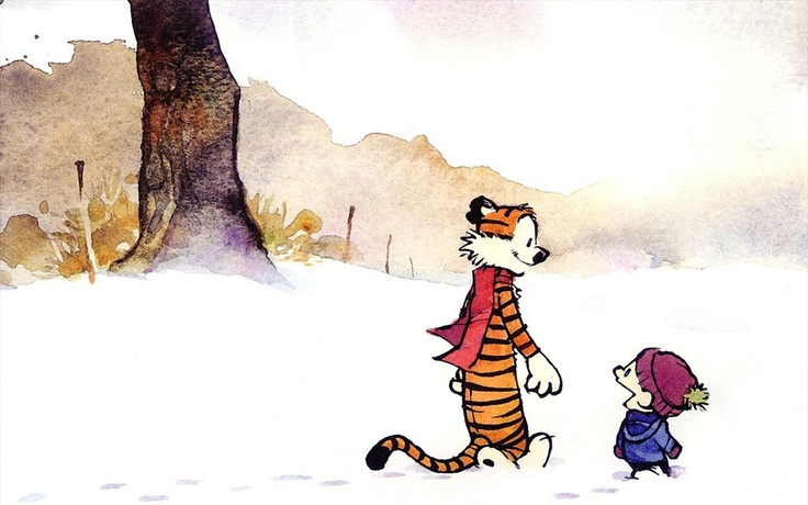 The inseparable duo, Calvin and Hobbes, via Pinterest