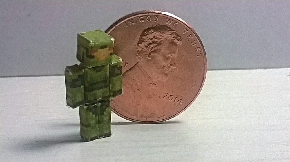 Micro papercraft, inspired by Minecraft/Achievement Hunter, 1 of 6