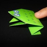 Origami Frog, via Pinterest