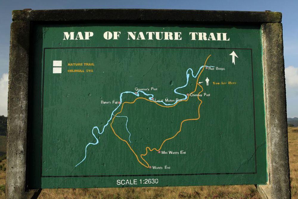 Basic Map of Horton Plains National Park
