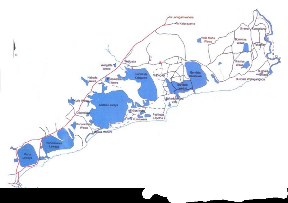 Basic Map of Bundala National Park