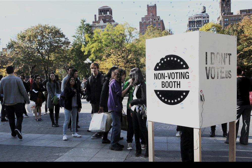 I don't vote - a campaign in Washington Square Park