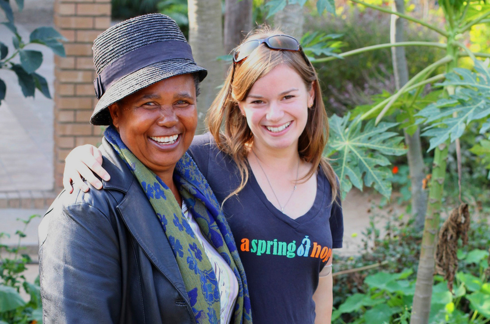 ASoH Permaculture Manager Leanette Sithole and ASoH co-founder Brittany Young